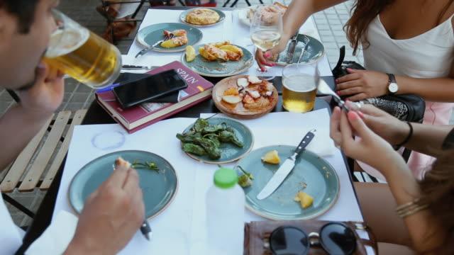 tapas in barcelona - tapas stock videos & royalty-free footage