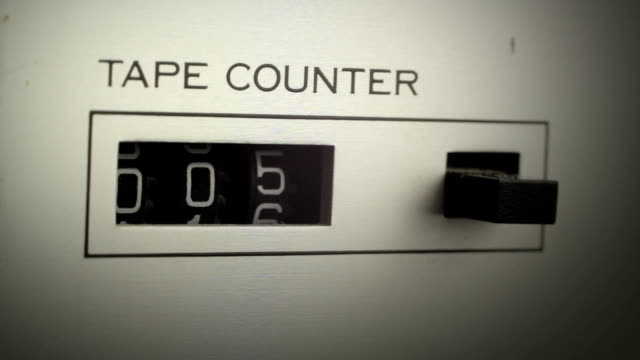 tape counter shows the time that passes