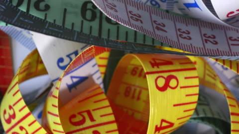 tape measures. - tape measure stock videos & royalty-free footage