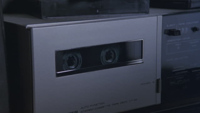 a tape recorder plays a cassette tape. - cassette tape stock videos & royalty-free footage