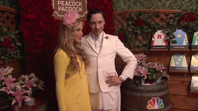 Tara Lipinski Johnny Weir at 2015 Kentucky Oaks on May 01 2015 in Louisville Kentucky