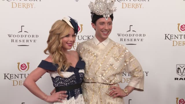 Tara Lipinski Johnny Weir at The 144th Kentucky Derby at Churchill Downs on May 5 2018 in Louisville Kentucky
