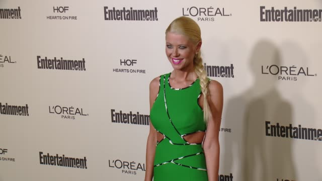 tara reid at entertainment weekly's preemmy celebration at fig olive melrose place on september 18 2015 in west hollywood california - entertainment weekly stock videos and b-roll footage