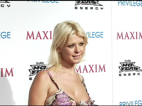 tara reid at the celebration of extreme sports with maxim magazine at privilege in west hollywood, california on august 3, 2006. - tara reid stock-videos und b-roll-filmmaterial
