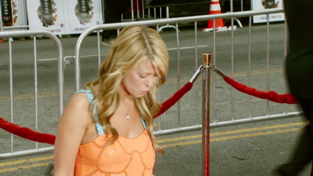 tara reid at the 'ocean's thirteen' north american premiere at grauman's chinese theatre in hollywood, california on june 5, 2007. - tara reid stock-videos und b-roll-filmmaterial