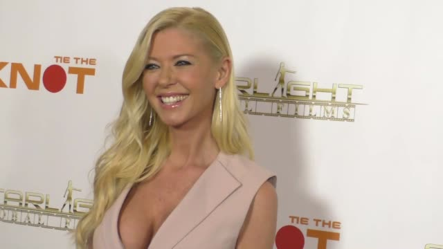 tara reid at the premiere of starlight global films' tie the knot at pacific theatre at the grove in hollywood in celebrity sightings in los angeles, - tara reid stock-videos und b-roll-filmmaterial