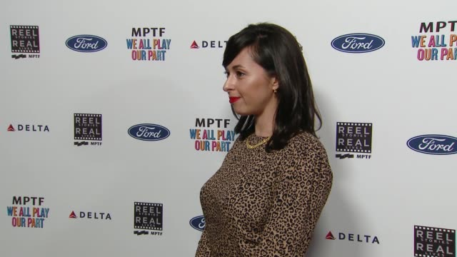 tara schuster at the 7th annual reel stories real lives event benefiting mptf at directors guild of america on november 08 2018 in los angeles... - director's guild of america stock videos & royalty-free footage