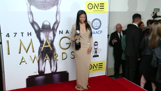 taraji p henson at 47th naacp image awards in los angeles ca - taraji p. henson stock videos and b-roll footage