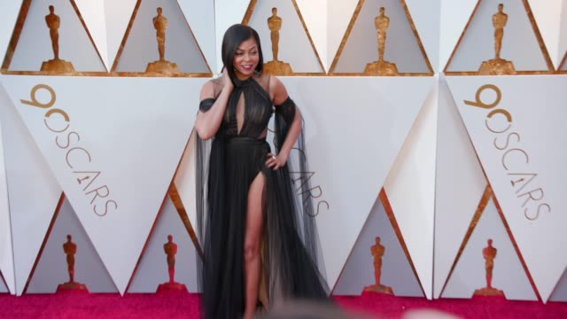 taraji p henson at 90th academy awards arrivals 4k footage at dolby theatre on march 04 2018 in hollywood california - 90th annual academy awards stock videos & royalty-free footage