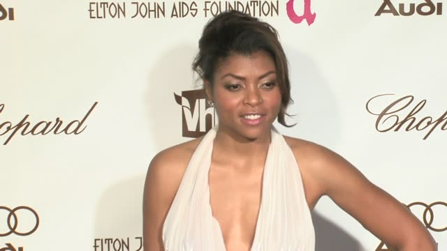 Taraji P Henson at the 14th Annual Elton John AIDS Foundation Oscar Party Cohosted by Audi Chopard and VH1 at the Pacific Design Center in West...