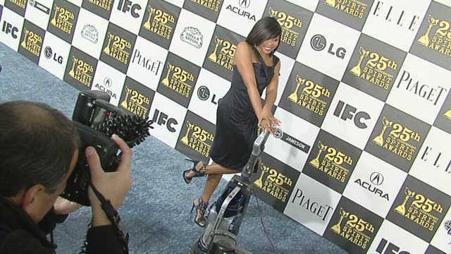 taraji p. henson at the 2010 film independent's spirit awards - arrivals at los angeles ca. - independent feature project stock videos & royalty-free footage