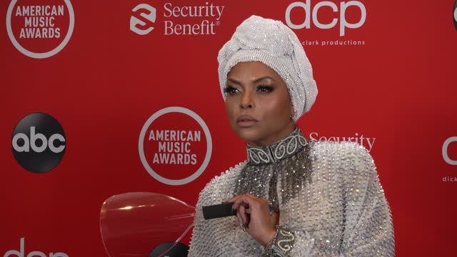 taraji p. henson at the 2020 american music awards at the microsoft theater on november 22, 2020 in los angeles, california. - microsoft theater los angeles stock videos & royalty-free footage