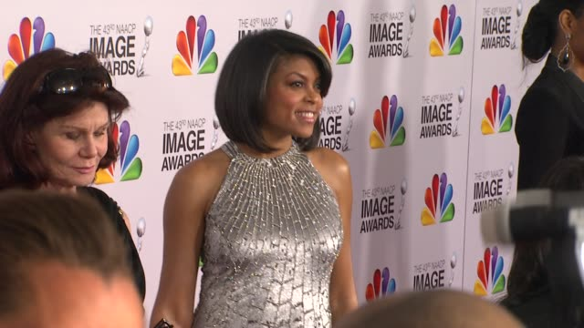 taraji p henson at the 43rd naacp image awards arrivals on 2/17/12 in los angeles ca - taraji p. henson stock videos and b-roll footage