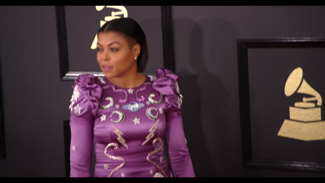 Taraji P Henson at the 59th Annual Grammy Awards Arrivals at Staples Center on February 12 2017 in Los Angeles California 4K
