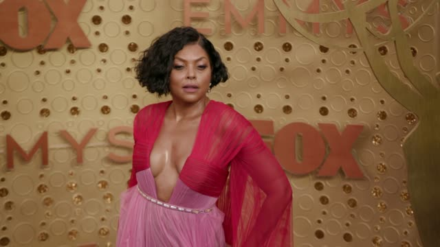 taraji p henson at the 71st emmy awards arrivals at microsoft theater on september 22 2019 in los angeles california - emmy awards stock videos & royalty-free footage