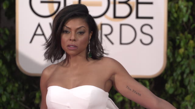 taraji p. henson at the 73rd annual golden globe awards - arrivals at the beverly hilton hotel on january 10, 2016 in beverly hills, california. 4k... - golden globe awards stock videos & royalty-free footage