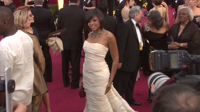 taraji p henson at the 81st academy awards arrivals at los angeles ca - academy awards stock videos & royalty-free footage