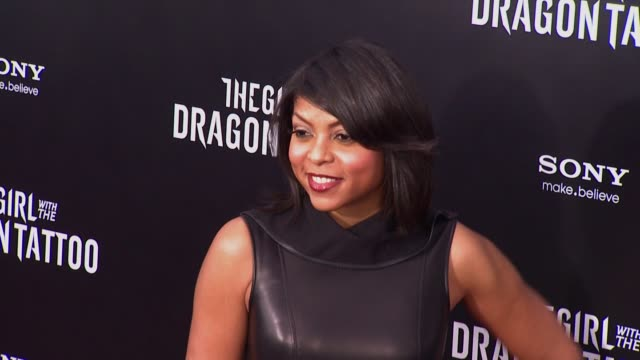 taraji p. henson at 'the girl with the dragon tattoo' new york premiere, new york, ny, united states, - tattoo stock videos & royalty-free footage