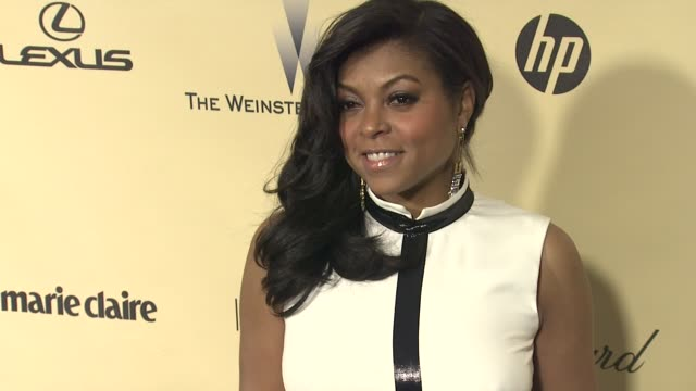 taraji p henson at the weinstein company's 2013 golden globe awards after party on 1/13/13 in beverly hills ca - taraji p. henson stock videos and b-roll footage