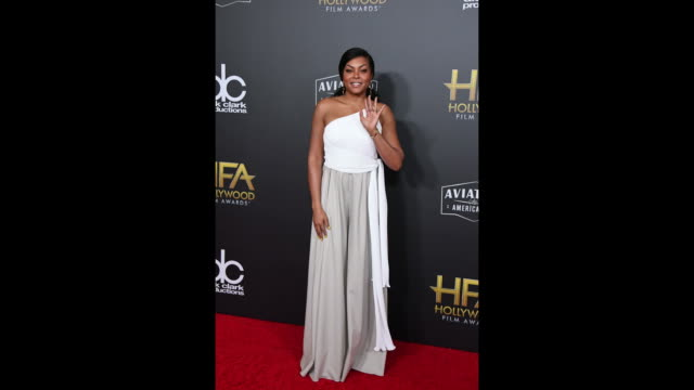 taraji p henson attends the 22nd annual hollywood film awards at the beverly hilton hotel on november 4 2018 in beverly hills california - taraji p. henson stock videos and b-roll footage