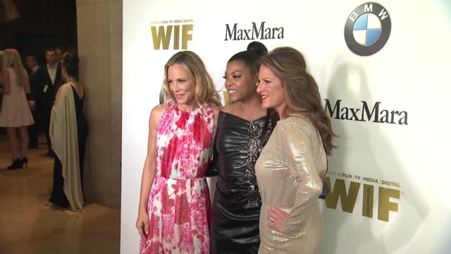 taraji p henson cathy schulman and maria bello at the women in film 2016 crystal lucy awards presented by max mara and bmw at the beverly hilton... - taraji p. henson stock videos and b-roll footage