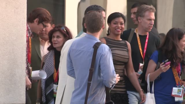 taraji p henson michael emerson depart comic con in san diego 07/14/12 - taraji p. henson stock videos and b-roll footage