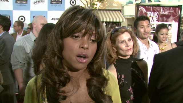 Taraji P Henson on her character in the film and on working with Don Cheadle at the 'Talk To Me' 2007 Los Angeles Film Festival Opening Night at the...