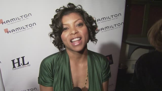 taraji p henson on presenting an award working with the makeup artists on her film the importance of honoring behindthescenes professionals working... - taraji p. henson stock videos and b-roll footage