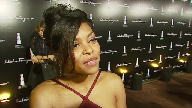 taraji p henson, on the event, the most fun she's had in ferragamos, her ferragamo shoes this evening, and a fashion pose at the rodeo drive 'walk of... - salvatore ferragamo stock videos & royalty-free footage
