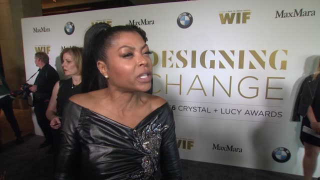 interview taraji p henson on what this honor means to her what we can do to create a world where women are equally represented in the film and... - taraji p. henson stock videos and b-roll footage