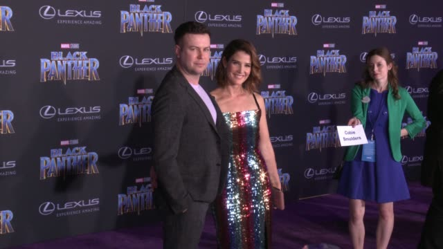 Taran Killam and Cobie Smulders at the Marvel Studios' 'Black Panther' World Premiere at Dolby Theatre on January 29 2018 in Hollywood California