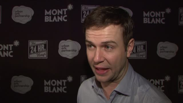interview taran killam from snl jokes that it's like a day off only playing one character on the other actors getting nervous on he and jay pharoah... - jay pharoah stock videos and b-roll footage
