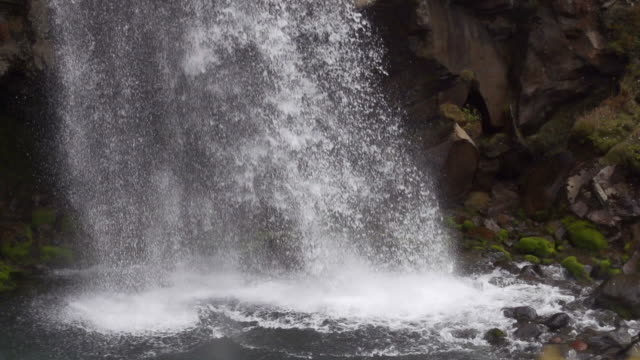 slow motion: taranaki falls close up - tongariro national park stock videos & royalty-free footage