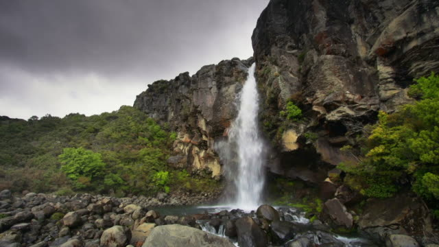 taranaki falls - tongariro national park stock videos & royalty-free footage