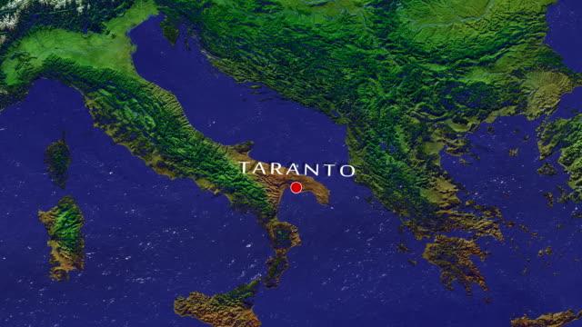 taranto zoom in - taranto province stock videos & royalty-free footage