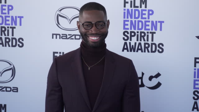 tarell alvin mccraney at the 2020 film independent spirit awards on february 08 2020 in santa monica california - film independent spirit awards stock videos & royalty-free footage