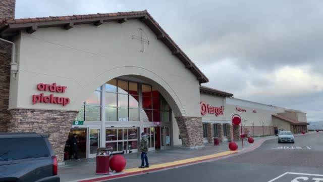 target at 5pm in santa clarita california on march 13 2020 in various cities united states - santa clarita video stock e b–roll