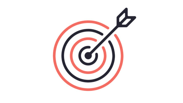 target audience line icon animation with alpha - aspirations stock videos & royalty-free footage