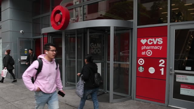 target corporation signage stands outside a store in emeryville, california, u.s., on friday, february 28, 2020. target is expected to release... - emeryville stock videos & royalty-free footage