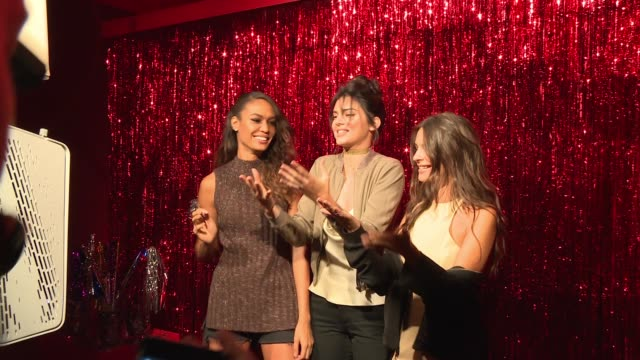 clean target img nyfw kickoff event at the park at moynihan station on september 06 2016 in new york city - joan smalls stock videos & royalty-free footage