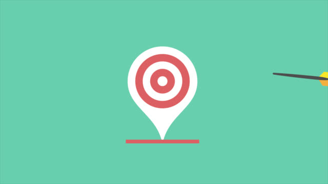 target location icons - flat animate stock video - map pin icon stock videos and b-roll footage