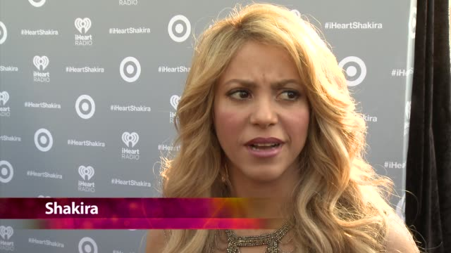 chyron target presents the iheartradio album release party for shakira's exclusive deluxe edition in los angeles ca on march 24 2014 - shakira stock videos and b-roll footage