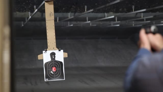 target shooting guns gun range on february 28 2013 in springville utah - springville utah stock videos & royalty-free footage