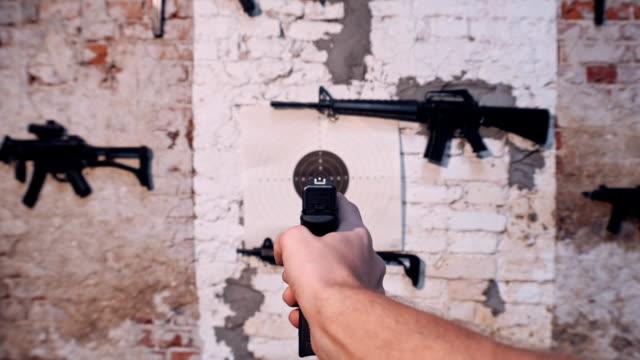 target shooting. pov - rifle stock videos & royalty-free footage