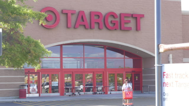 target store in small town christiansburg, va, usa - department store stock videos & royalty-free footage