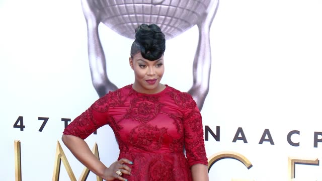 ta'rhonda jones at 47th annual naacp image awards at pasadena civic auditorium on february 05 2016 in pasadena california - pasadena civic auditorium stock videos and b-roll footage