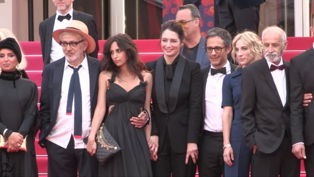 tarik kopty raia haidar fadi sakr yasmine hamdan nancy grant gael garcia bernal vincent maraval and more on the red carpet for the premiere of it... - 72nd international cannes film festival stock videos and b-roll footage