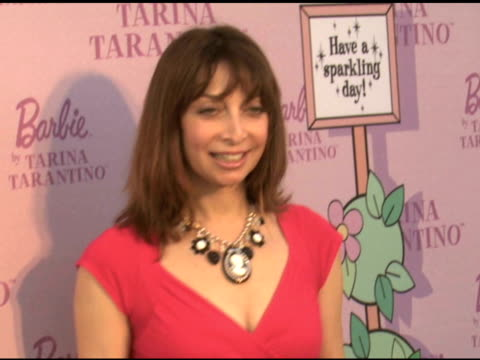 tarina tarintino barbie doll launch at tarina tarintino los angeles ca 7/17/08 - event capsule stock videos & royalty-free footage