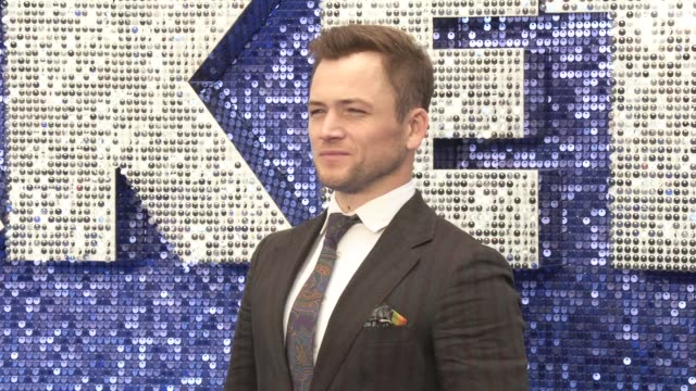 taron egerton at odeon luxe leicester square on may 20, 2019 in london, england. - premiere stock videos & royalty-free footage