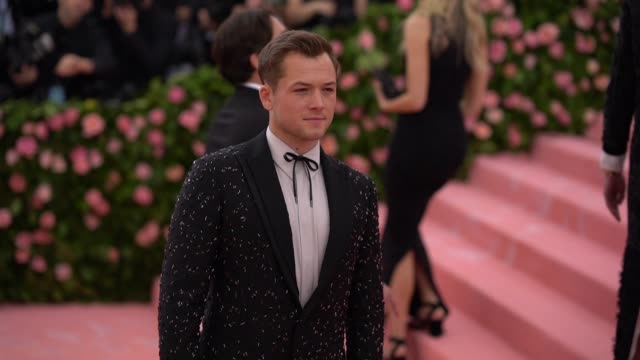 Taron Egerton at The 2019 Met Gala Celebrating Camp Notes on Fashion Arrivals at Metropolitan Museum of Art on May 06 2019 in New York City